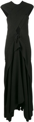 Proenza Schouler Sleeveless Cross-Over Long Dress