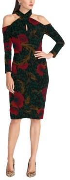 Rachel Roy Simone Floral-Printed Crisscross-Halter Sheath Dress