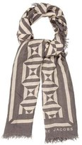 Marc Jacobs Printed Fringe Scarf