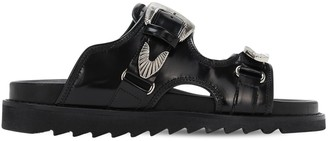 Toga Virilis Polido Leather Sandals