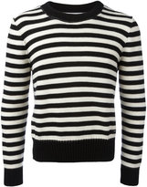 Ami Alexandre Mattiussi striped crew neck sweater