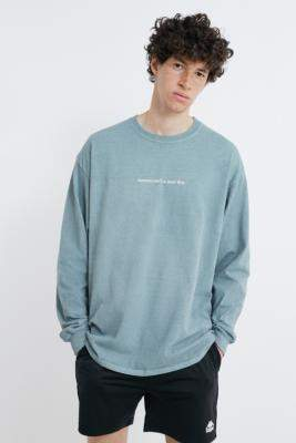 Urban Outfitters Tomorrow Is a New Day T-Shirt - blue L at