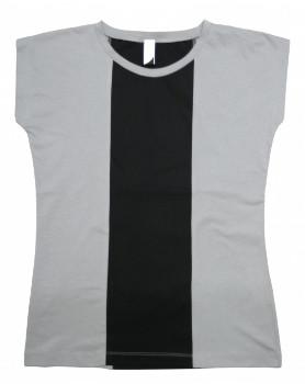 Format BASE Grey & Black Single Plain T-Shirt - S - Grey/Black