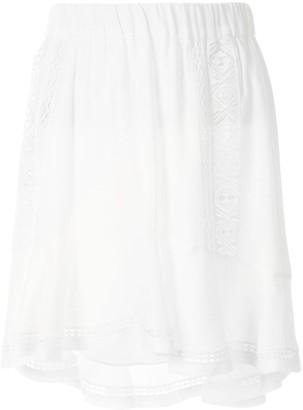 IRO Ruffled-Hem High-Waisted Skirt
