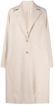 Nina Ricci Checked Draped Coat