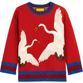Gucci for NET-A-PORTER - Printed Bonded Cotton-jersey Sweatshirt - Red