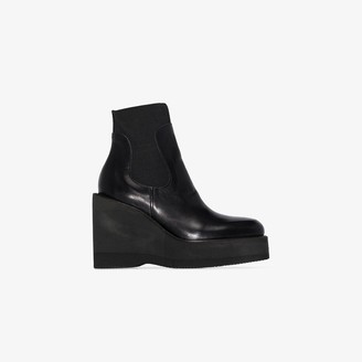 Sacai Black 115 Wedge Ankle Boots