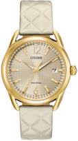 Citizen Drive From Eco-Drive Women's Ivory Leather Strap Watch 36mm