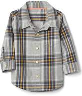 Gap Plaid poplin pocket shirt