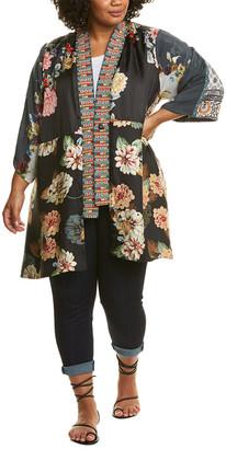 Johnny Was Payden Silk-Blend Kimono
