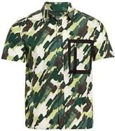 Madison Supply Boxy Camo Print Short Sleeve Shirt