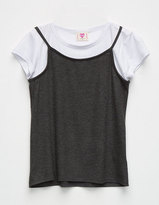 Hip Ribbed Slip Girls Tee