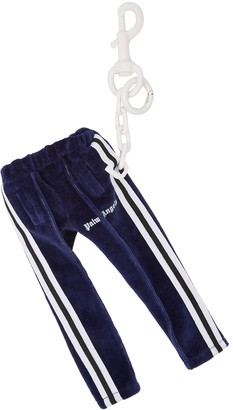 Palm Angels Track Pants Navy Velour Keyring