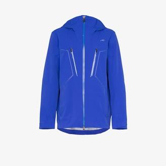 Kjus Blue macun technical shell hooded jacket