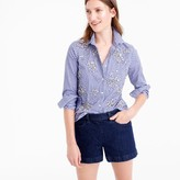 J.Crew Collection Thomas Mason® top in embellished gingham