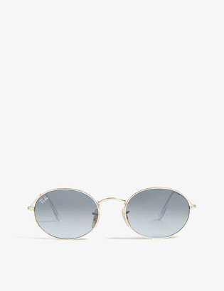 Ray-Ban RB3547 metal oval-frame sunglasses