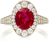 Martin Katz Oval Purplish Red Ruby Ring