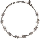 Elizabeth Cole Hematite-plated Swarovski crystal necklace