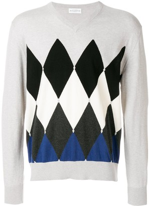 Ballantyne diamond pattern jumper