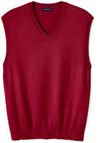 Classic Men's Big Performance Sweater Vest-Rich Red