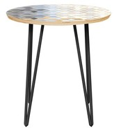 Bungalow Rose Kinkade End Table Table Base Color: Black, Table Top Color: Natural
