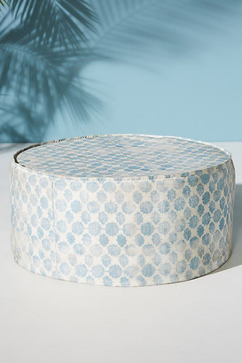 Anthropologie Mod Fret Clive Indoor/Outdoor Ottoman By in Blue Size ALL