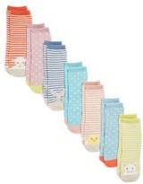 Infant Girl's Mini Boden 7-Pack Patterned Socks