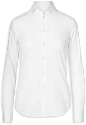 Ralph Lauren Iconic Style Charmain Stretch Sateen Shirt