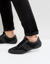 Armani Jeans Logo Sneakers in Black