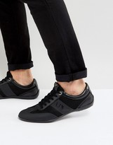 Armani Jeans Logo Trainers In Black