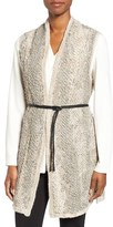 Nic+Zoe Women's Windfall Belted Knit Vest