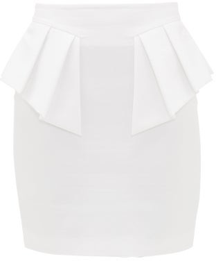 Alexandre Vauthier Ruffled Cotton Mini Skirt - White