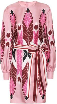 Valentino printed silk minidress