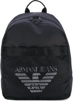 Armani Jeans - mesh logo backpack - men - Nylon/Polyamide/Polyester - One Size