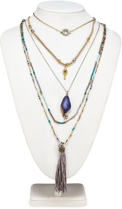 Abbott Collection 54-BOHO-NK-5015 5 Layer Necklace