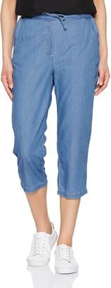Damart Women's Pantacourt Enfilable Femme Chambray Trousers