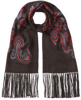 Etro Embroidered Cashmere Scarf with Silk