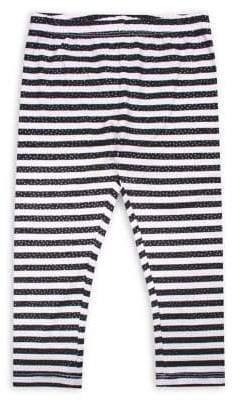 Nannette Baby Girl's Glitter Stripes Knit Leggings