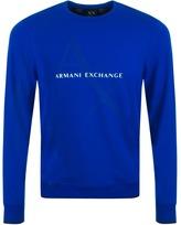 Armani Exchange Logo Sweatshirt Blue