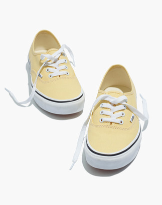Madewell Vans Unisex Authentic Lace-Up Sneakers in Golden Haze Canvas