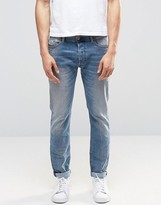 Diesel Tepphar Skinny Jeans 857l Light Distressed