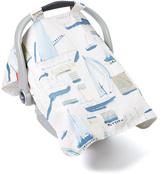 White & Blue Sail Boat Car Seat Cover