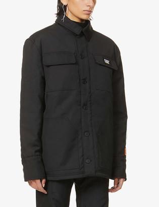 Heron Preston x Caterpillar logo-embroidered woven coach jacket