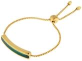Monica Vinader Vermeil Green Onyx Baja Chain Bracelet