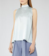 Reiss Blaire Silk-Front Top