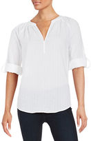 Lord & Taylor Textured Cotton Top