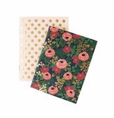 Rifle Paper Co. Rosa Notebook with 32 blank pages - Set of 2