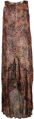 Romeo Gigli Pre-Owned 1997 Sheer Velvet Texture Dress