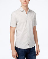 Michael Kors Men's Tailored-Fit Micro Print Shirt, Created for Macy's