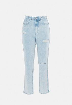 Missguided Wrath Slash Rip Straight Leg Jeans
